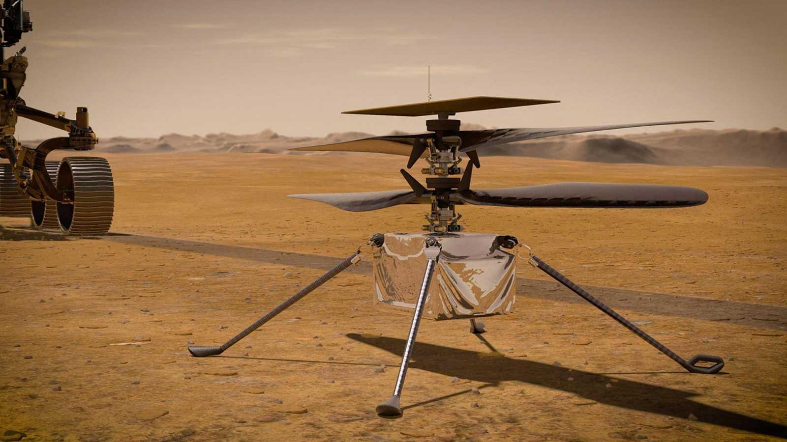 El helicóptero Ingenuity de la NASA aterriza en el cráter Jezero de Marte