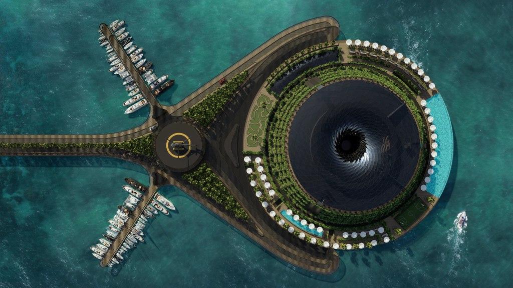 ¡Increíble! Conoce el primer hotel giratorio y flotante en Catar