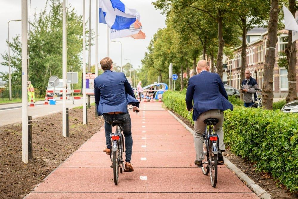 ciclovías hechas de plástico en Países Bajos