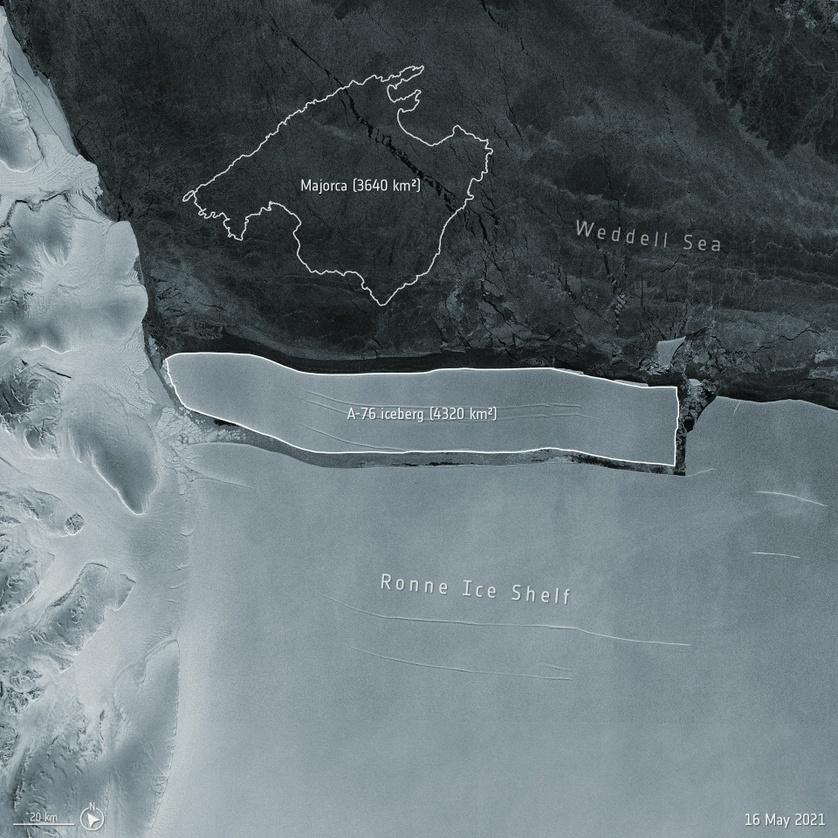 se desprende el iceberg más grande de la antártida