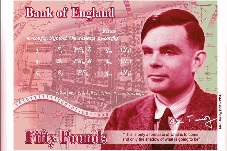 Alan Turing tiene su propio billete en UK