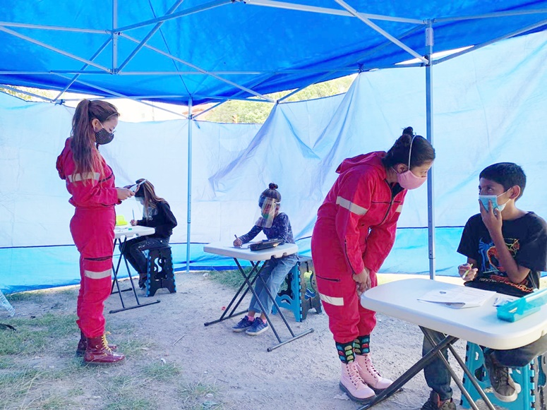 escuela móvil para niños de la calle