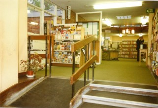Looking into the main Library from the desk c.1985