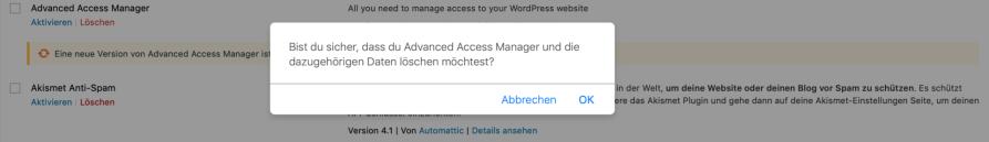 Bildschirmfoto 2019 01 11 um 15.04.25 1024x148 - WordPress Plugins richtig löschen - So geht's!