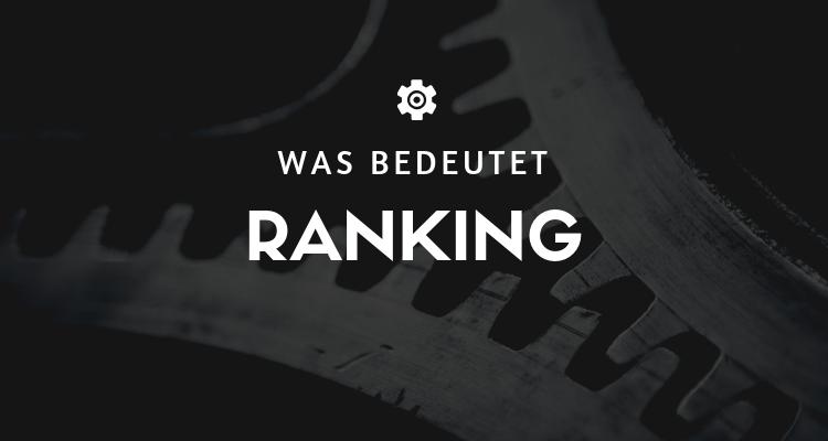 Was bedeutet 1 1 - Ranking