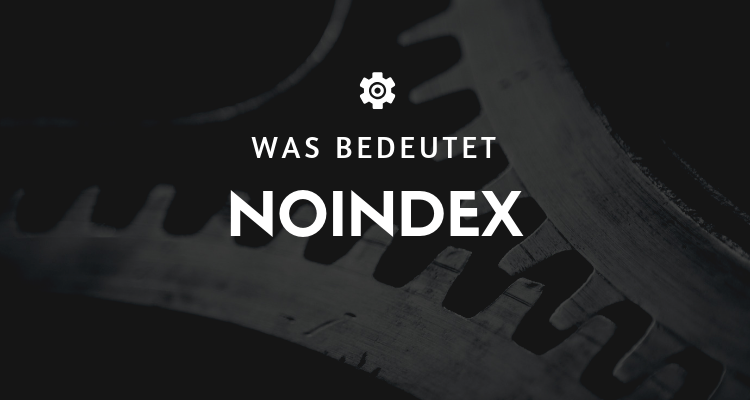 Was bedeutet Noindex