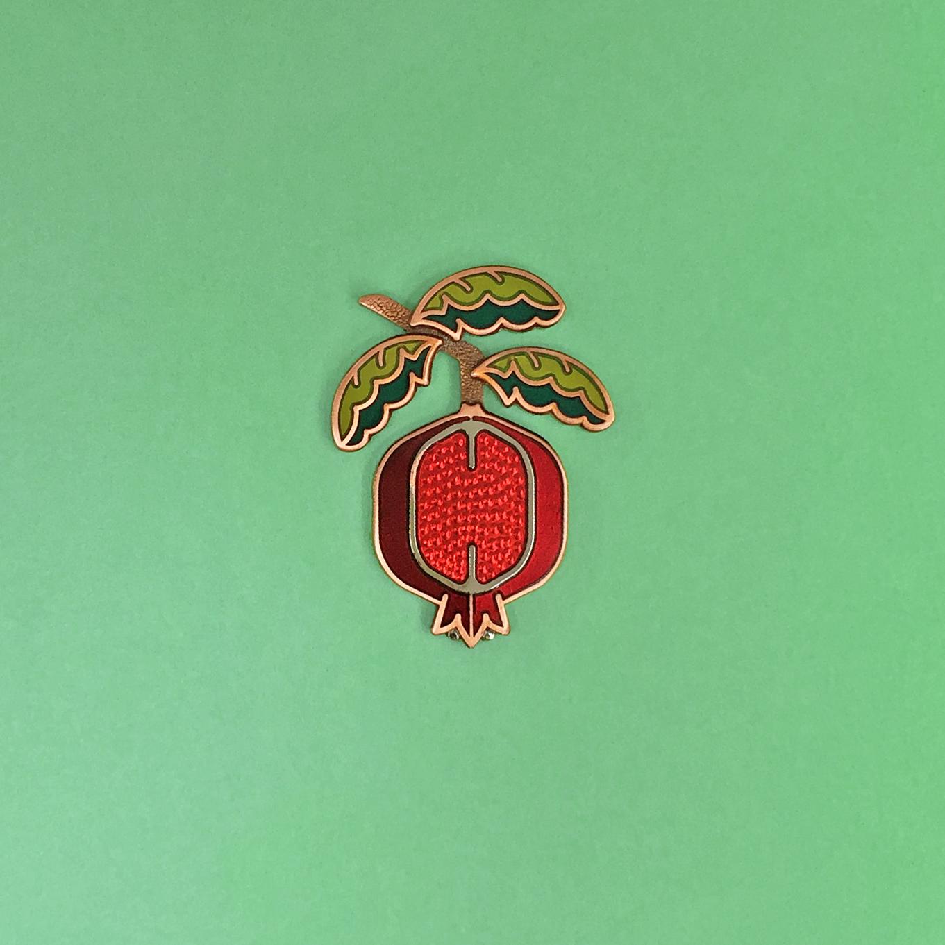 Pomegranate Enamel Pin
