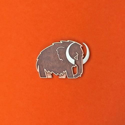 Woolly Mammoth Enamel Pin