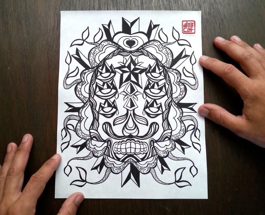 coloring_page_calaca