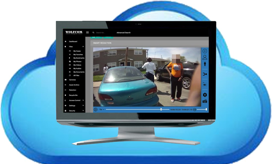 WOLFCOM offers standalone video redaction software on cloud servers