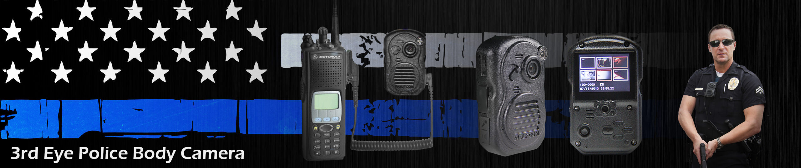 top banner for 3rd eye police body camera page on wolfcom usa website