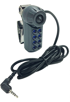 night vision external attachment camera lets you record in pitch-black with your wolfcom vision police camera