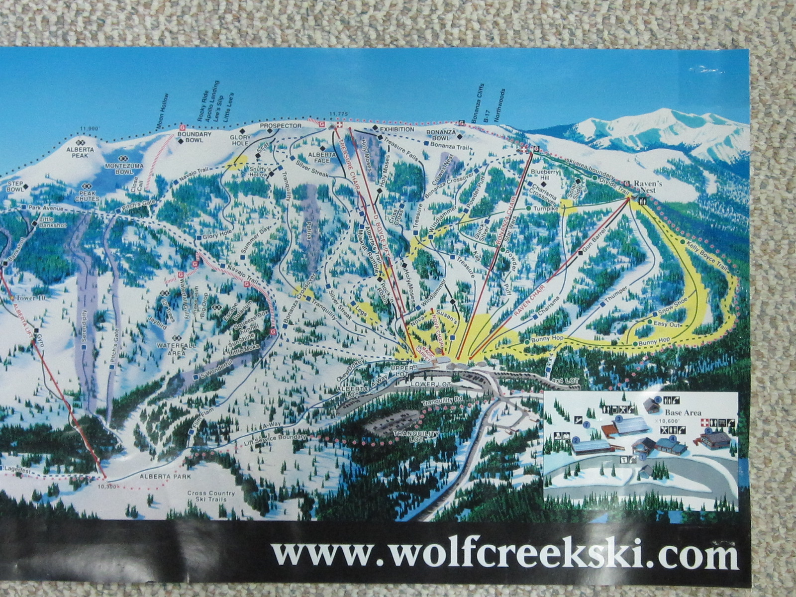 Wolf Creek Ski Map Wolf Creek Ski Area Map Poster   Wolf Creek Ski Area  Wolf Creek Ski Map