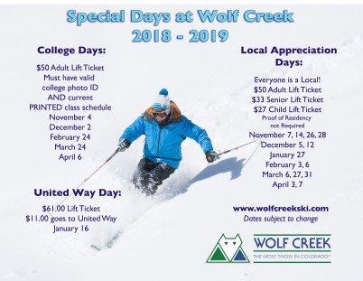 Wolf Creek loves locals