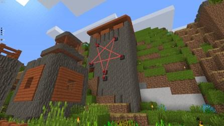 Laser pentagram