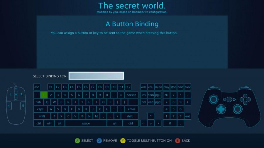 Set bindings screenshot