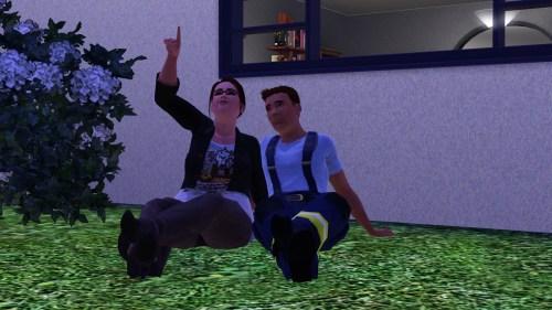 Terra and Josh stargazing