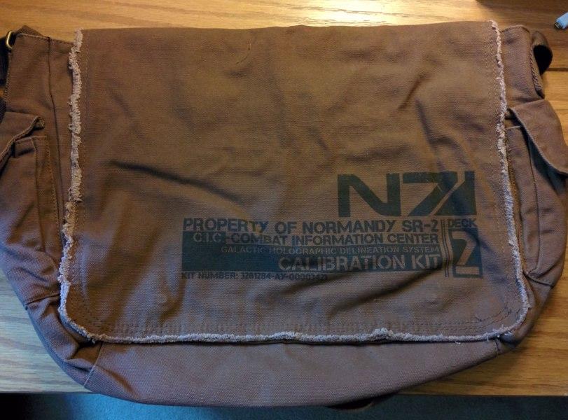 My custom Normandy C.I.C. bag