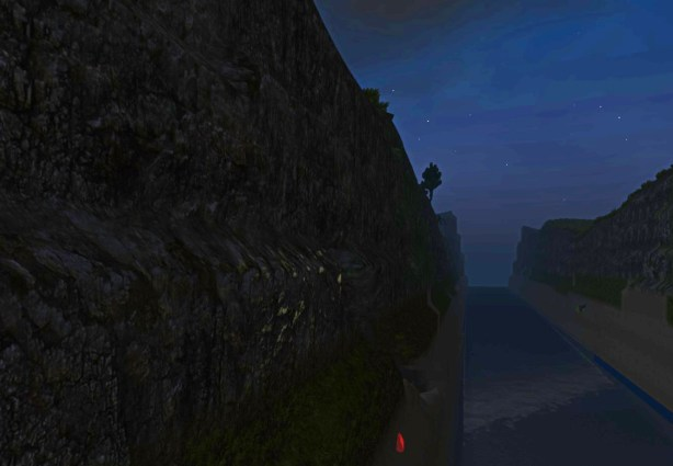 Digging my way out of a river ravine at night (Planet Explorers)