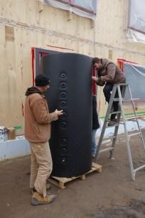 Unzipping the tank insulation