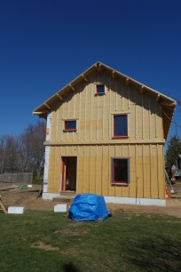 The west side insulation is complete