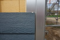 Siding and aluminium corner trim 1