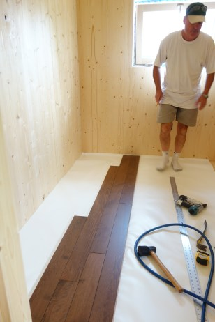 Flooring continues into the walk-in closet (AKA 4th bedroom)