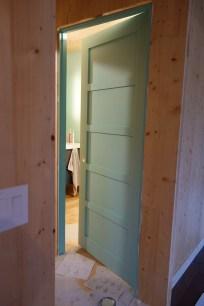 'Laurentian' on the bathroom door