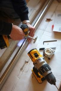 Preparing the steel handrail