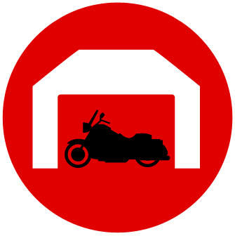 motorcycle storage icon