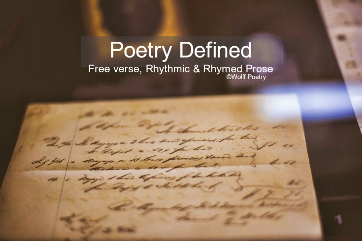 Image of Poetry Defined: Free verse