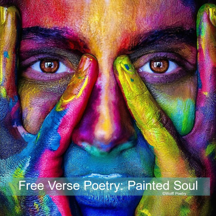 Image of free verse poetry - painted soul