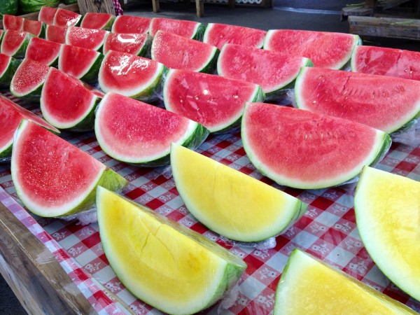 watermelon - red and yellow