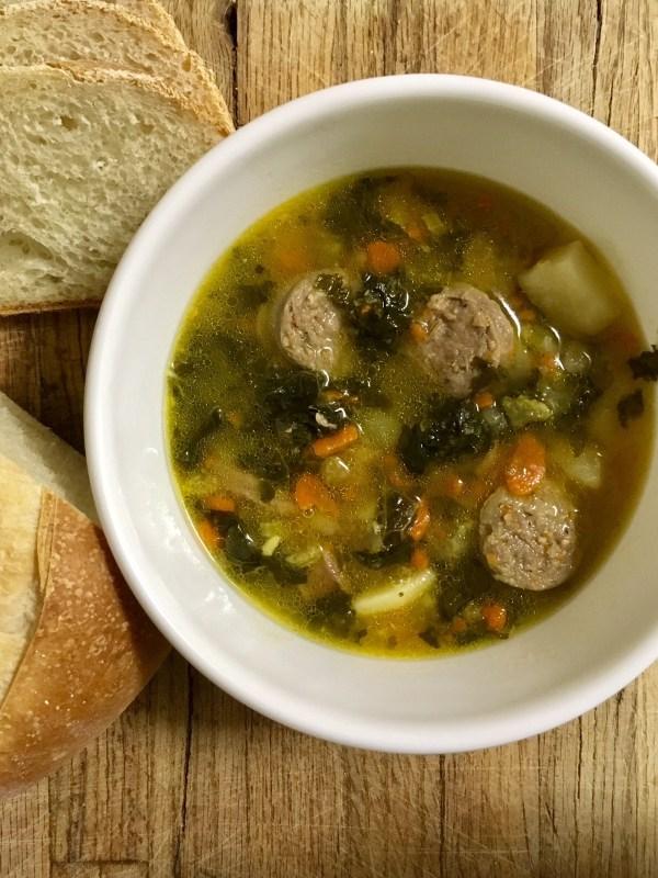 Potato Sausage Kale Soup
