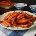 Carrots in lavender butter