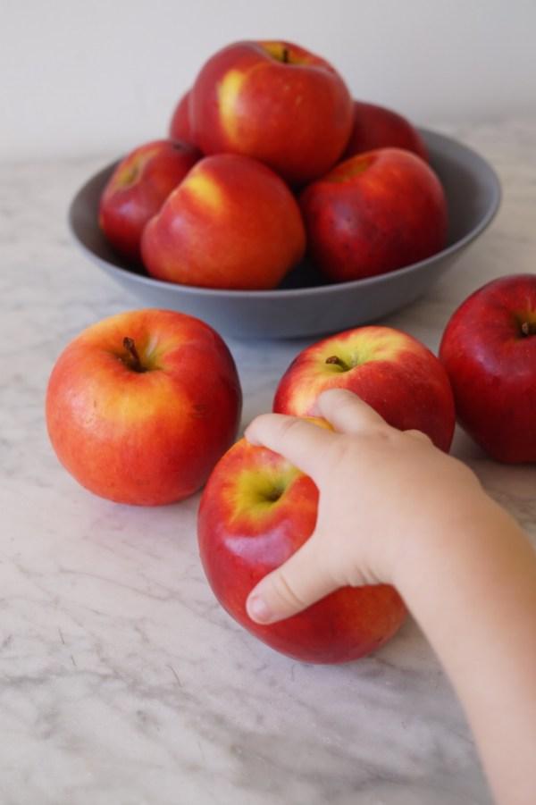 Choosing apples for snacks