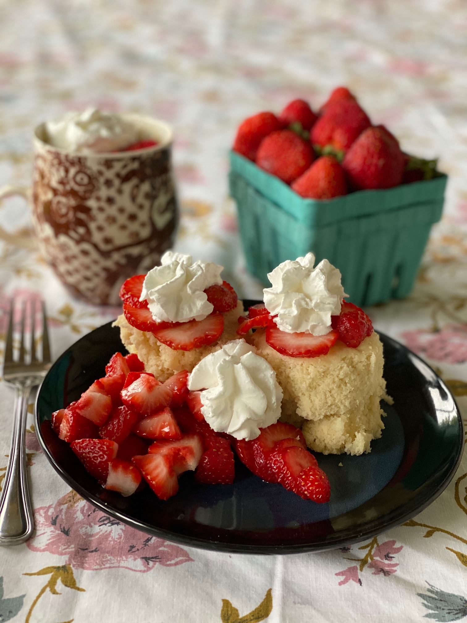 Microwavable Strawberry Shortcake In A Mug Wolff S Apple House