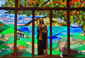 St. Brigid from Kildare on Window