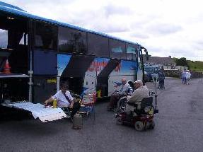 Wheelchair friendly coach - lunch in Clonmacnoise