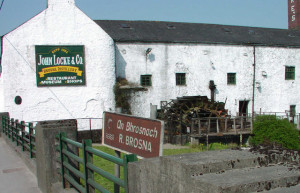 Distillery on the shore of the Brosna river
