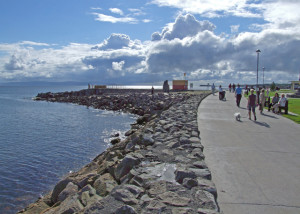 promenade in salthill, galway