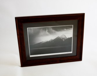 "Photo print 9.5""x13"", finished size 12""x16"", black matte."