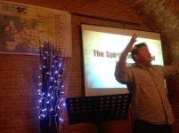 "Gareth Lowe in full flow teaching about a ""Spirit-Empowered"" church..."