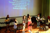 Youth band rocking for Jesus!