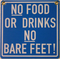 NO BARE FEET