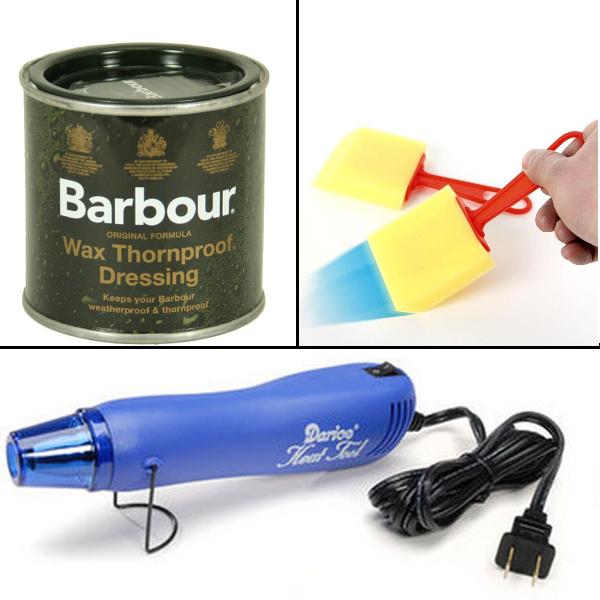 Barbour Wax, Craft Sponge, Heat Gun