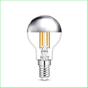 Kopspiegellampen E14 zilver