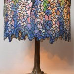 Tiffany Style Leaded Glass Wisteria Lamp By Paul Crist Studios Inventory Wolfs Fine Paintings And Sculpture