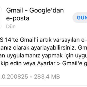 iOS 14'de varsayılan e-posta uygulaması