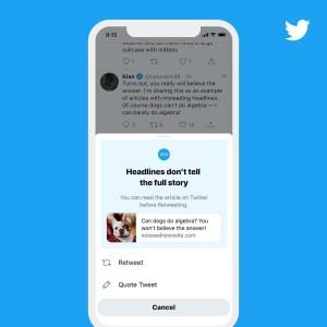 Twitter retweetlemeden önce uyarı gösterecek